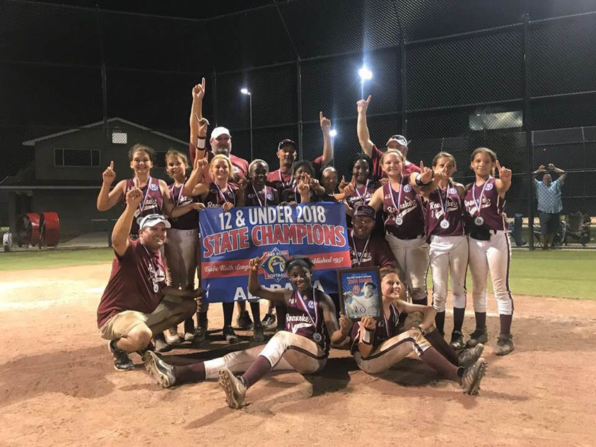 2018 Alabama 12U Softball State Champions Sponsored by ETI